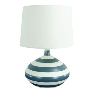 Crate & Barrel Ceramic Lamp With Shade For Sale