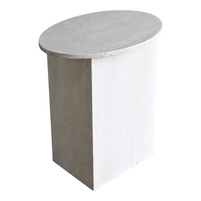 Travertine Pedestal, Circa 1975 For Sale