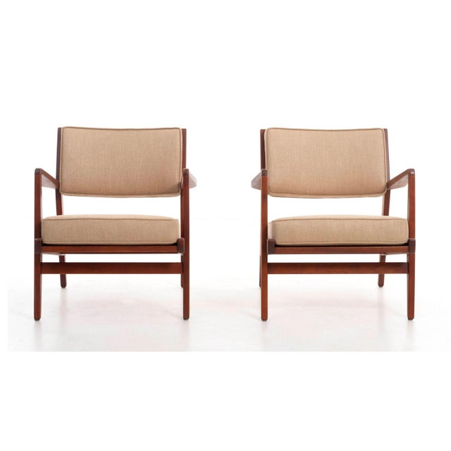 Risom for Risom Design Inc. Pair of lounge chairs for the Caribe Hilton Hotel in Puerto Rico a subtle Scandinavian...