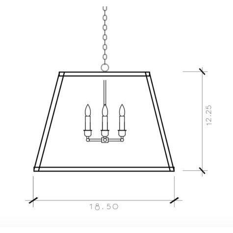 The HD-2 from the Hampton Dunes collection is a rectangular fixture that hangs from a chain. Measuring 12.25h x 18.5w (at...