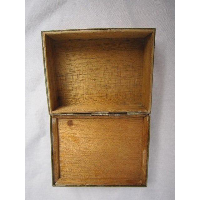Brass Chinese Brass & Jadeite Box For Sale - Image 7 of 7