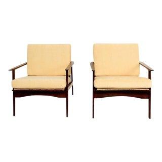 Danish Mid Century Modern Pair of Scandinavian Easy Chairs