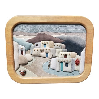 1993 New Mexico Village Mixed Media 3d Art by Anne Phillips For Sale