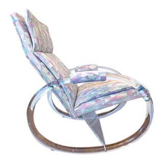 1970s Charles Hollis Jones for Hill Manufacturing Lucite Rocker For Sale