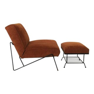 Mid Century Modern Lounge Chair and Ottoman For Sale