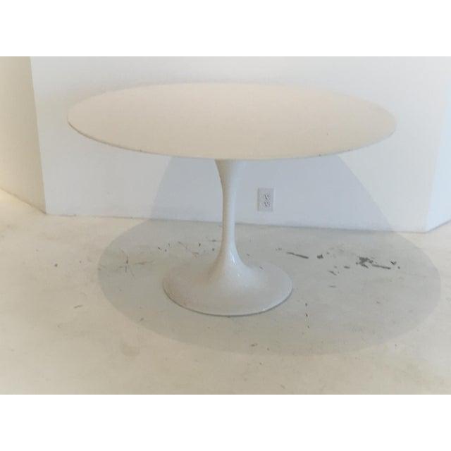 Saarinen Style White Tulip Table - Image 2 of 3