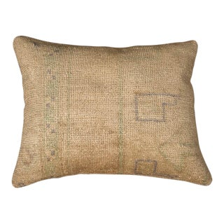 Modern Designer Wool Beige Sofa Pillow For Sale