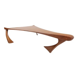 Sculptural Coffee Table by A. Van Der Linden For Sale