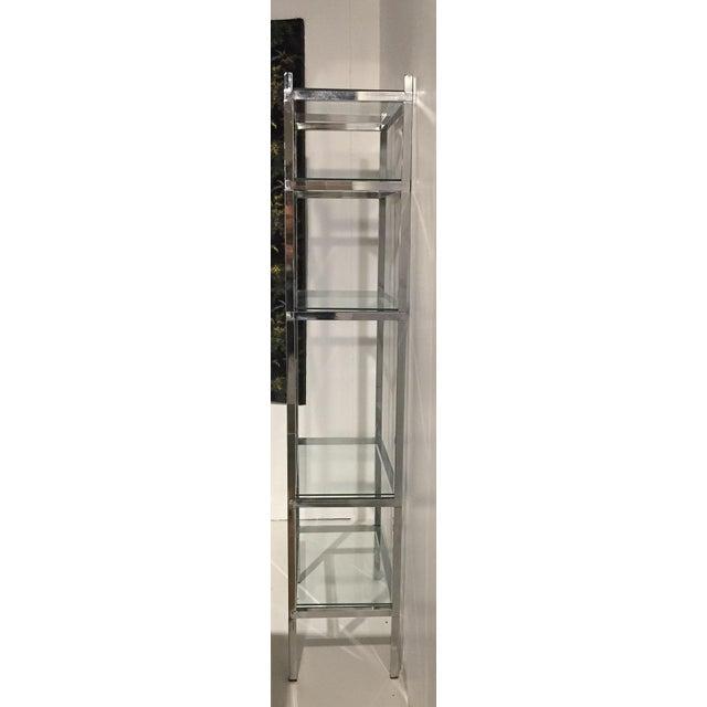 Mid-Century Chrome Bookcase Etagere - Image 5 of 6