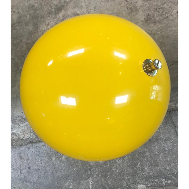 Italian 1950s Yellow Midcentury Table Lamp For Sale - Image 3 of 10