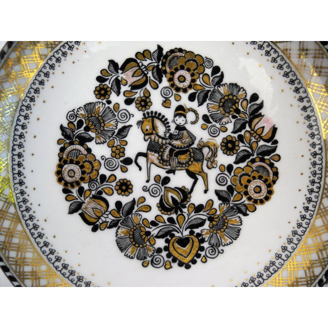 Mid-Century Modern Steinbock Austria Porcelain Wall Plate For Sale - Image 3 of 8
