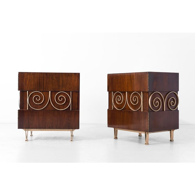 Edmund Spence Edmund Spence Pair of End Tables or Nightstands For Sale - Image 4 of 11