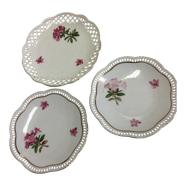 Bavaria Schumann Porcelain Floral Plates - Set of 3 For Sale