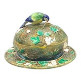 Image of Antique George Jones Majolica Muffin Dish For Sale