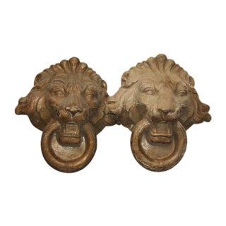 Composite Lion Heads - A Pair For Sale