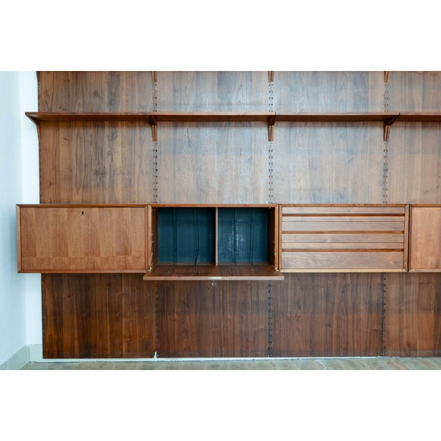 Large Mid-Century Design Teakwood Cadovius Wall Unit, Denmark, 1960s For Sale - Image 11 of 11