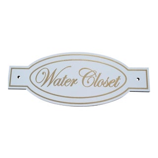 Elegant Wood Water Closet Sign