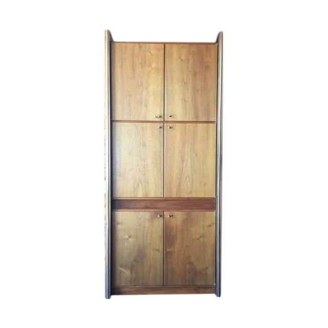 Barzilay Mid-Century Tall 1960s Walnut Cabinet For Sale