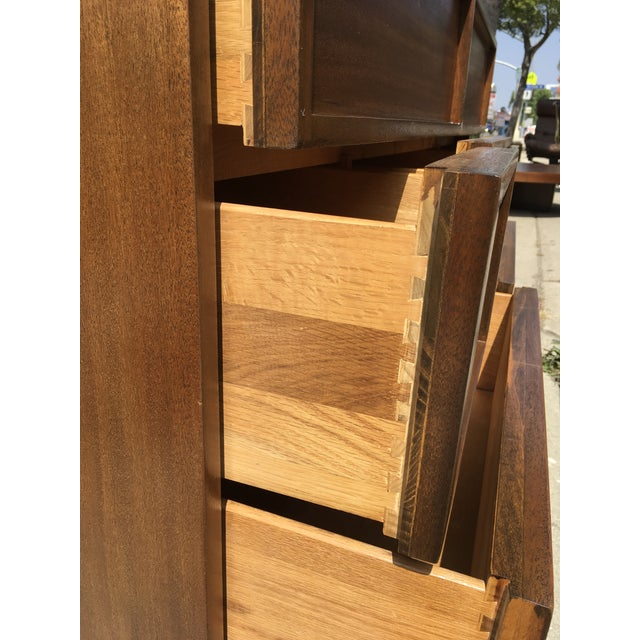 1940s Mid Century Modern Triangle Brand Mahogany Low Dresser For Sale In Los Angeles - Image 6 of 11