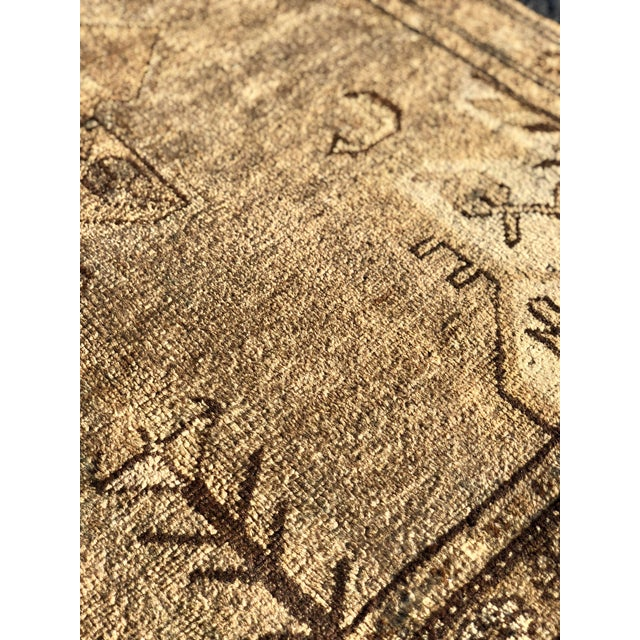 Textile 1950's Vintage Persian Hamadan Rug- 3′6″ × 9′9″ For Sale - Image 7 of 13