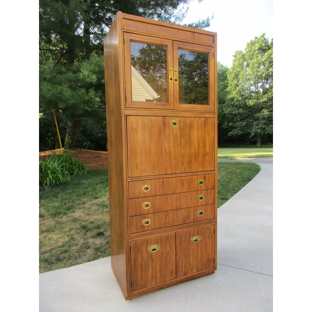Drexel Heritage Campaign Style Bar Cabinet - Image 2 of 11