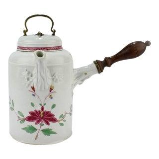 Antique 18th Century Marcolini Period Meissen Porcelain Chocolate Pot For Sale