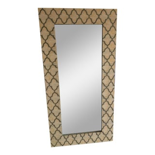Mother of Pearl Geometric Mirror