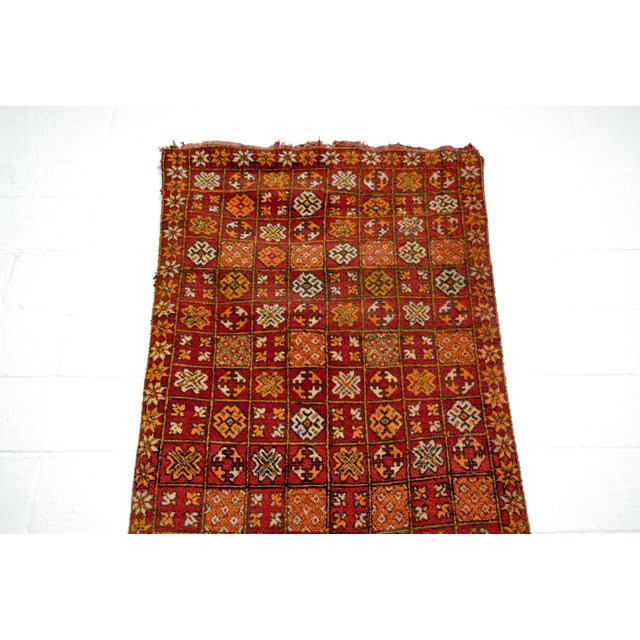 "Boho Chic Vintage Moroccan Boujad Floor Rug Runner - 3'3"" x 8'5"" For Sale - Image 3 of 10"