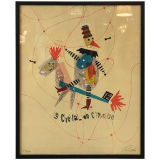 Original Vintage 'Le Cheval De Cirque' Screen Print by Wolfgang Roth For Sale