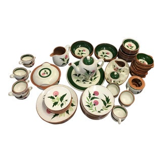 1950's Vintage Stangl Pottery China Set- 74 Pieces For Sale