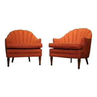 Mid Century Lounge Chairs- A Pair For Sale