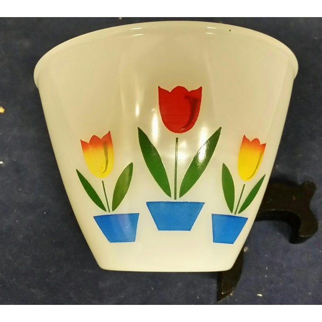 White Vintage Fire King Tulip Mixing Bowls - a Pair For Sale - Image 8 of 13
