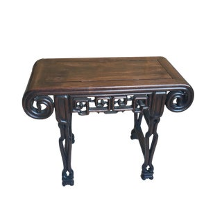 1940s Chinoiserie Scroll Table For Sale