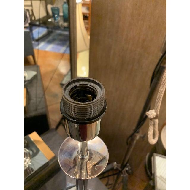 Classical Vintage Industrial Metal Bloomingdale's Table Lamps Pair For Sale - Image 9 of 9