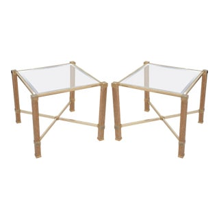 Pierre Vandel Oak Ceruse Side Tables - A Pair For Sale