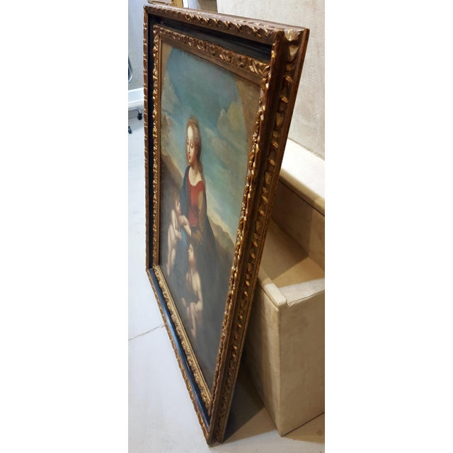 Madonna With Child -17th Century Italian Old Painting For Sale - Image 10 of 10