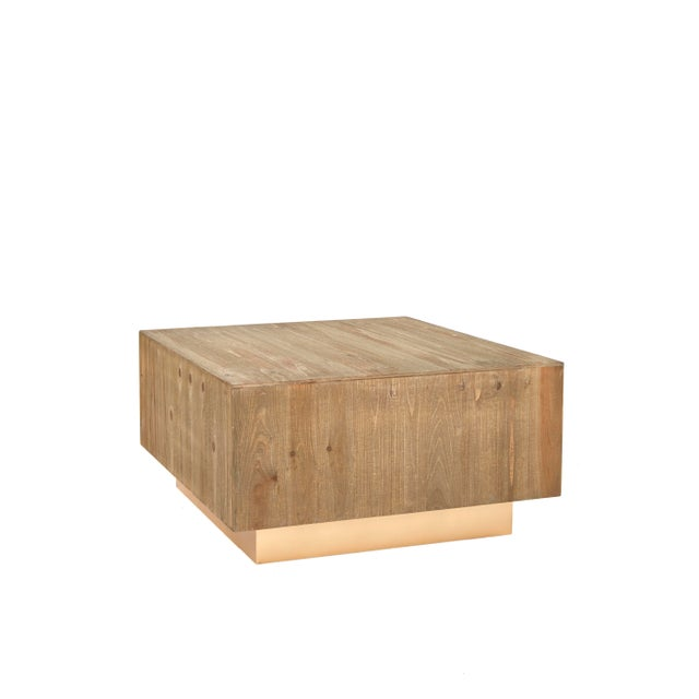 Leo Wood Square Coffee Table For Sale - Image 4 of 4