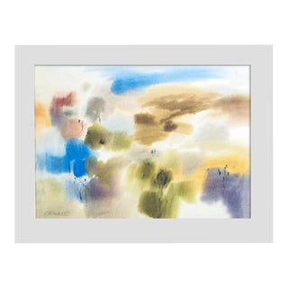 Original Don Werner Abstract Watercolor Painting