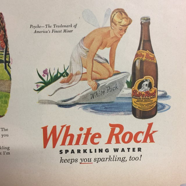 Vintage White Rock Sparkling Water Ad, 1940s For Sale - Image 4 of 4
