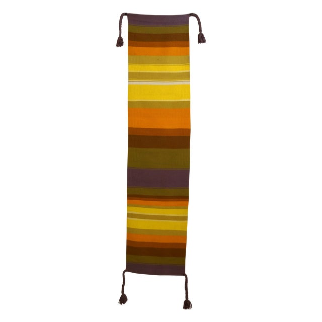 Mid-Century Handwoven Wall Hanging - Image 1 of 6
