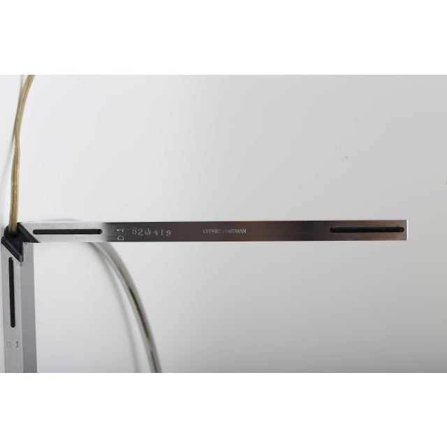 Cedric Hartman Polished Chrome Cantilevered Table Lamp by Cedric Hartman 1970s For Sale - Image 4 of 9
