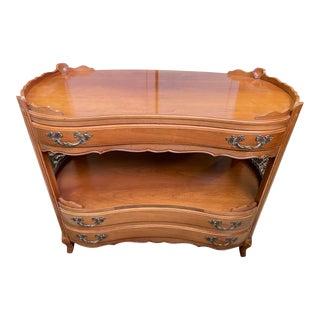 French Provincial Francher Wood Tea Cart Server For Sale