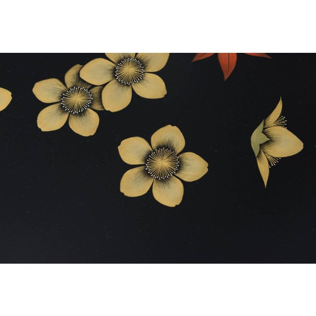Mid 20th Century Mid 20th Century Black Asian Style Coffee Table For Sale - Image 5 of 7