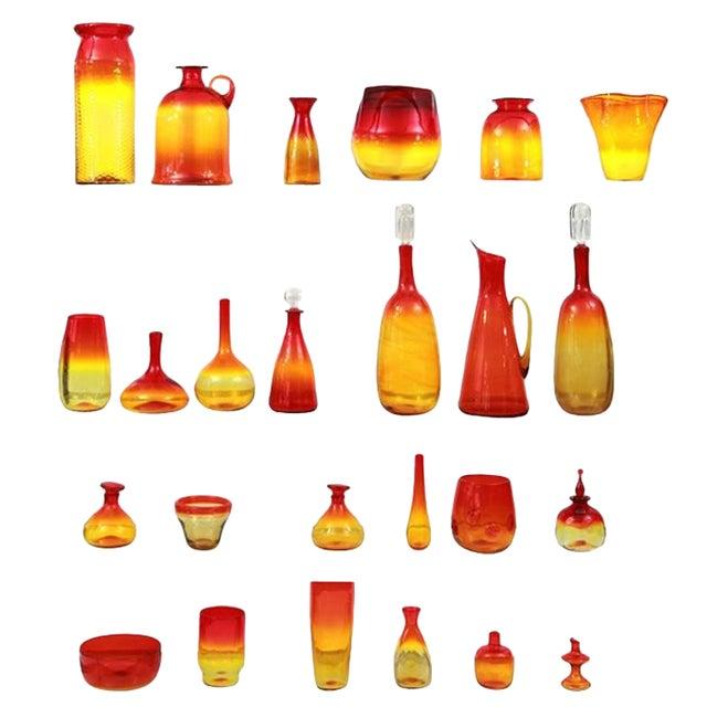 Remarkable Blenko Glass Ensemble For Sale