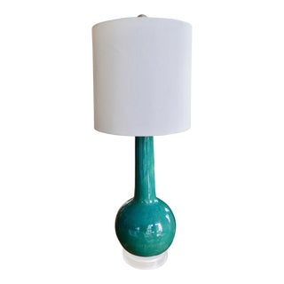 1960's Teal Gourd Lamp For Sale