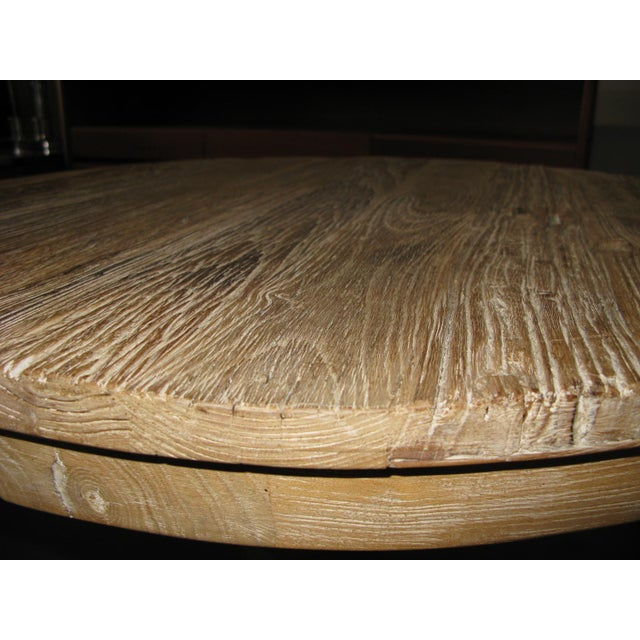White Round Distressed Table - Image 2 of 9