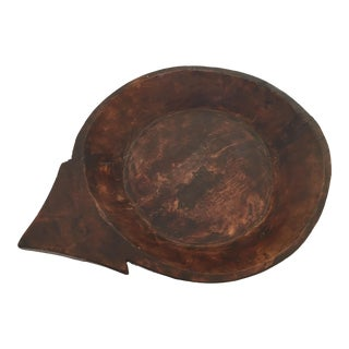 Tribal Hand-Carved Wooden Bowl For Sale