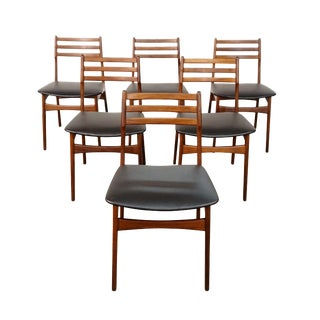 Danish MCM teak dining chairs - Borregaard / Viborg Stolefabrik - Set of 6