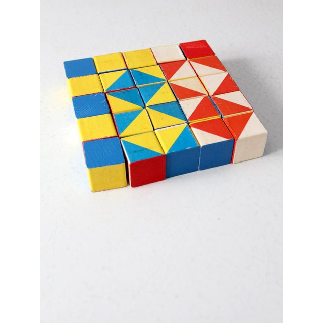 Playskool Color Cubes Toy Blocks Circa 1970 For Sale - Image 12 of 12