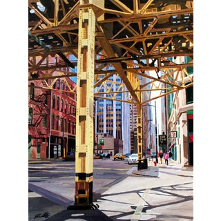 Giclee Print of the Painting of Chicago For Sale